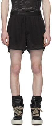 Rick Owens Black Champion Edition Mesh Dolphin Boxer Shorts