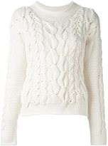 Malo cable knit pullover - women - Cashmere - S