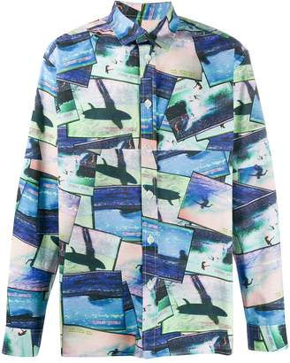 The Silted Company surfer print shirt