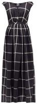 Thierry Colson Valeria Off-the-shoulder Cotton-blend Dress - Womens - Black White