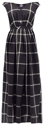 Thierry Colson Valeria Off-the-shoulder Cotton-blend Dress - Black White