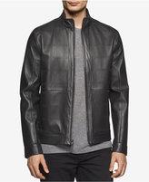 Calvin Klein Men's Slim-Fit Perforated Premium Leather Jacket