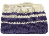 Hand Crocheted Ivory and Purple Clutch Handbag, 'Sweet Purple'