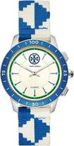 Tory Burch TORYTRACK HYBRID SMARTWATCH, BLUE/IVORY/NAVY/STAINLESS STEEL, 38MM