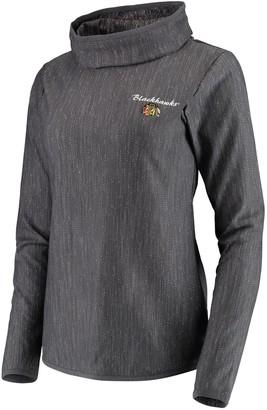 Antigua Women's Heathered Gray Chicago Blackhawks Equalizer Pullover Sweatshirt
