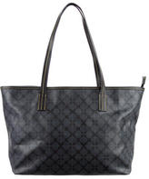 Jonathan Adler Printed Leather-Trimmed Tote