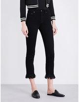 Maje Panako frayed-hem cropped mid-rise jeans