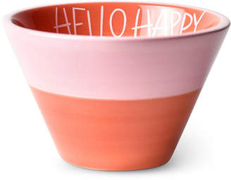 Coton Colors by Laura Johnson Persimmon Hello Happy Appetizer Bowl