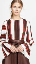 Tory Burch Printed Flare Sleeve Blouse