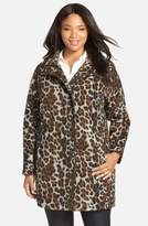 Ellen Tracy Plus Size Women's Leopard Print Car Coat