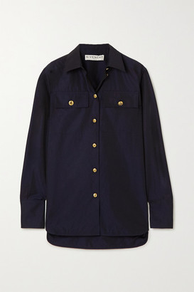 Givenchy Button-embellished Cotton-poplin Shirt - Navy