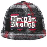 Maison Michel plaid cap