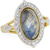 Jude Frances Moroccan 18K Diamond & Labradorite Doublet Ring, Size 6.5