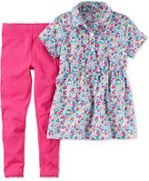 Carter's 2-Pc. Floral-Print Tunic & Leggings Set, Baby Girls (0-24 months)
