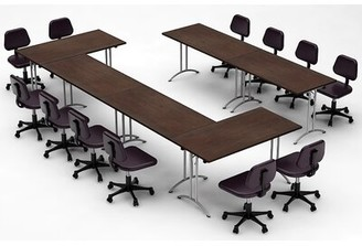Latitude Run Martelly Rectangular Conference Table Set Top Finish: Java