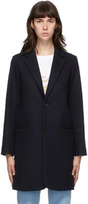 A.P.C. Navy Wool Carver Coat