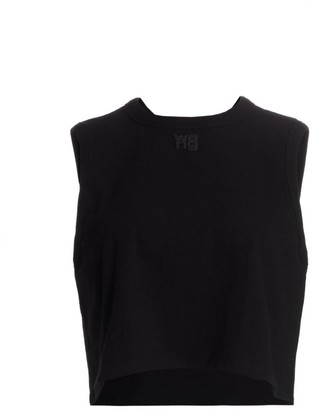 Alexander Wang Foundation Jersey Cropped Muscle Tee
