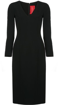 Carolina Herrera Fitted V-Neck Dress