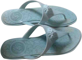 Versace Turquoise Rubber Sandals