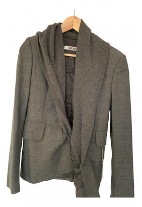 Dirk Bikkembergs Grey Wool Jackets