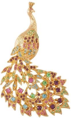 Susan Caplan Vintage 1980s Vintage D Orlan Swarovski Crystal Peacock Brooch