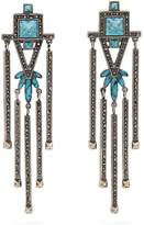 Valentino Crystal-embellished clip-on earrings