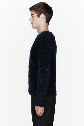 Paul Smith Navy blue mohair sweater