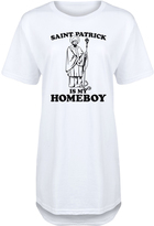 White 'St. Patrick Is My Homeboy' Relaxed-Fit Tunic - Women