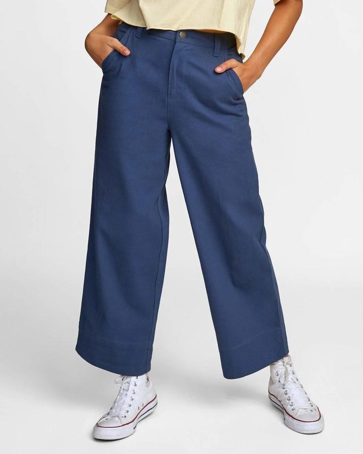 RVCA Junior's Jackal Wide Leg Trouser