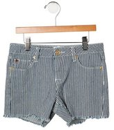Hudson Girls' Striped Distressed Shorts