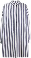 YMC Oversized Striped Shirt Dress