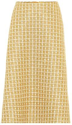 Balenciaga Wool-blend tweed midi skirt