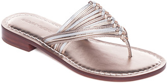 Bernardo Metallic Braided Flat Thong Sandals