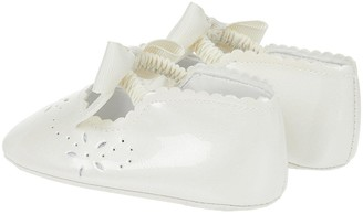 Monsoon Baby Girls Flora Ivory Patent Bootie - Ivory