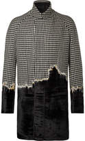Haider Ackermann - Embroidered Houndstooth Wool And Velvet Coat