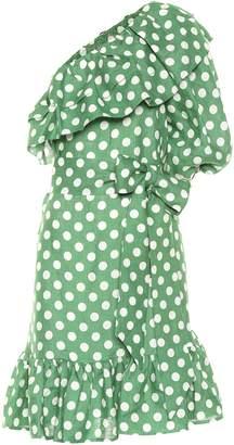 Lisa Marie Fernandez Arden polka-dot linen minidress
