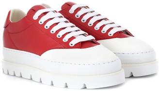 MM6 MAISON MARGIELA Leather platform sneakers