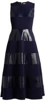 Roksanda Wren sleeveless striped cady midi dress