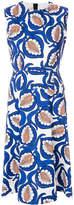 Marni leaf printed dress