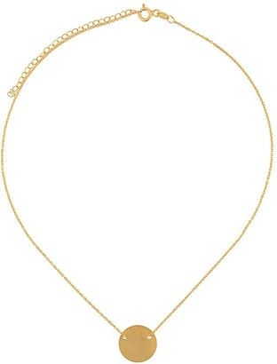 HSU JEWELLERY LONDON Making Marks Disc necklace