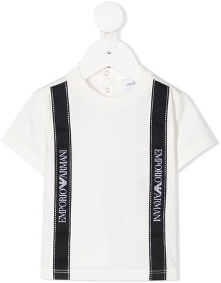 Emporio Armani Kids logo tape cotton T-shirt