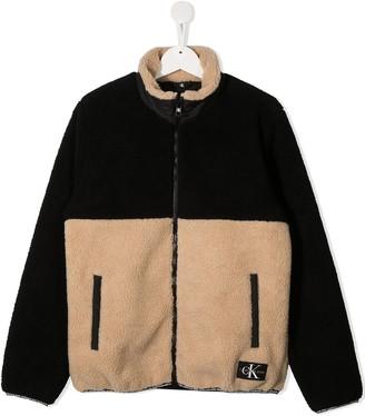 Calvin Klein Kids Shearling Bomber Jacket