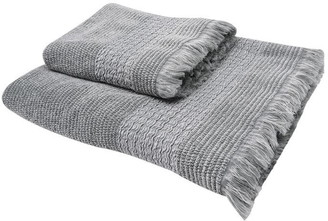 Gray and Willow Gray Textured Detail Towel