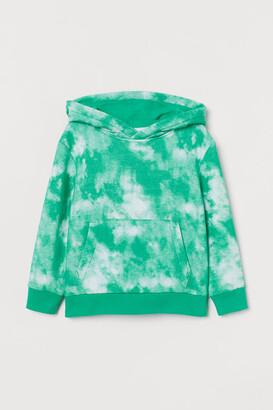 H&M Patterned Hoodie - Green