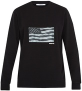 Givenchy USA flag-appliqué cotton sweatshirt