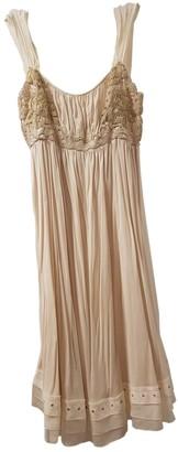 Louis Vuitton Beige Silk Dresses