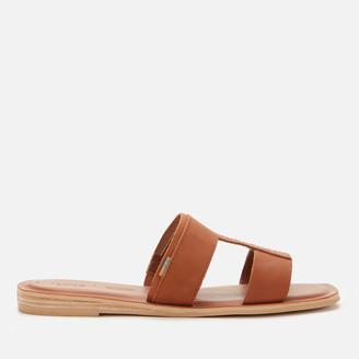 Toms Women's Veg Tan Leather Seacliff Sandal - Tan