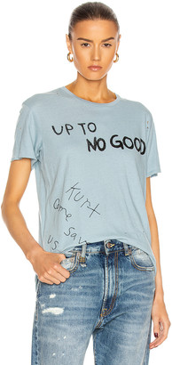 R 13 Up to No Good Boy Tee in Light Blue | FWRD