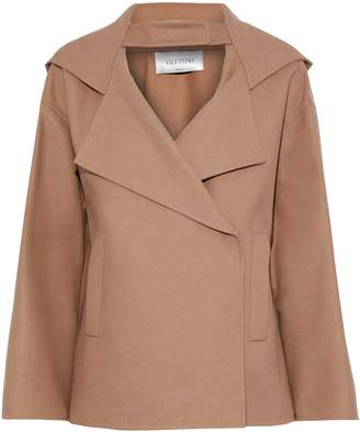 Valentino Wool-blend Felt Hooded Jacket