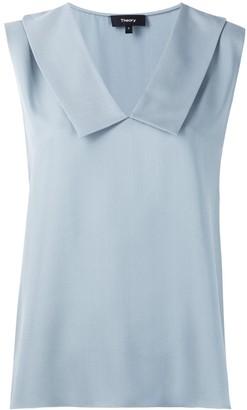 Theory Sleeveless Silk Shirt